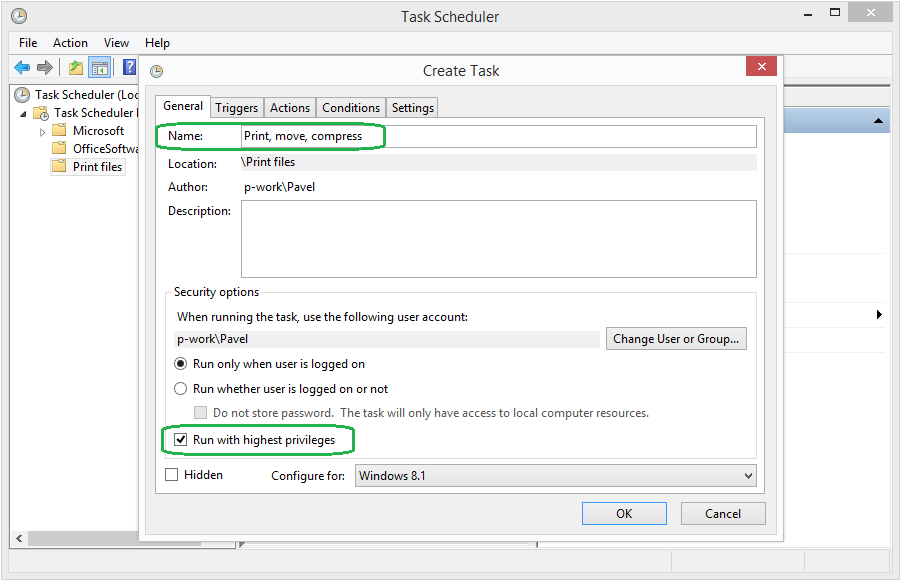 How to setup scheduled printing via 2Printer & Windows Task